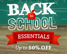 Up to 90% off All Featured Back to School Essentials + Free Shipping