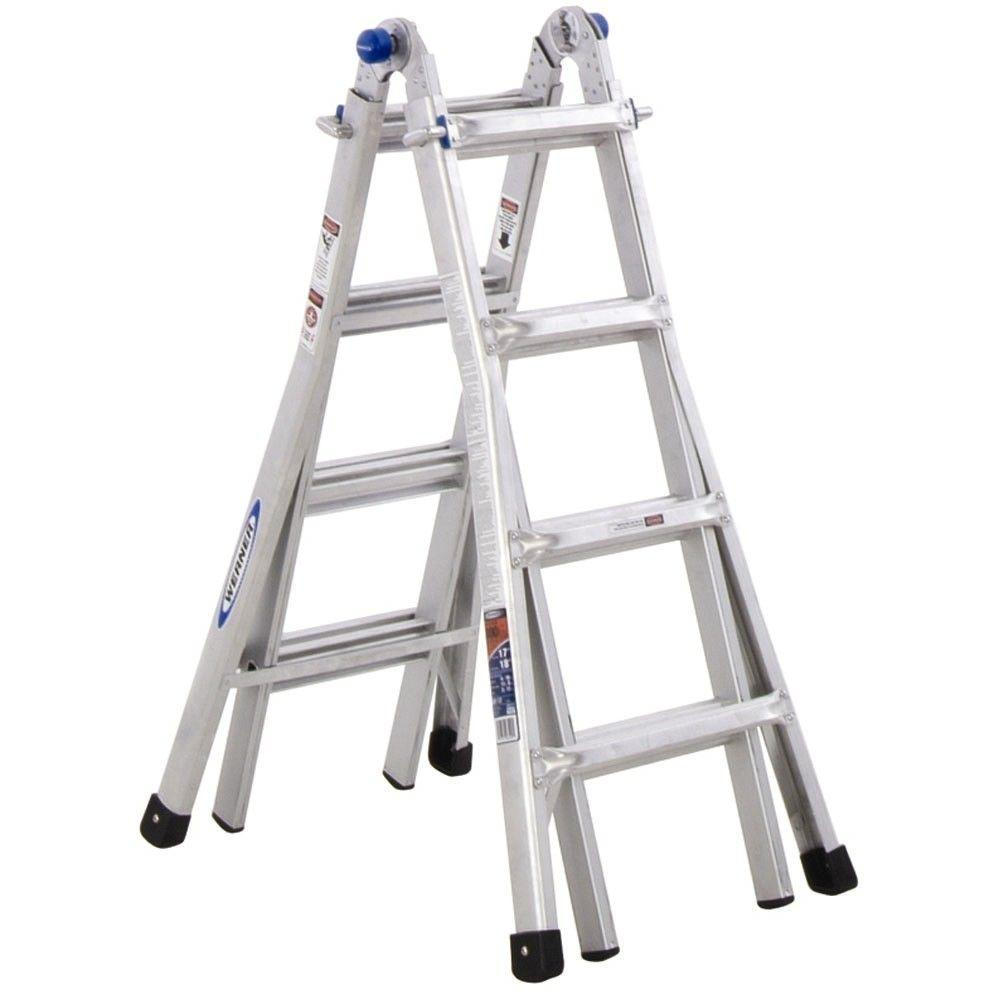 Werner Telescoping Multi-Position Ladder with 300 lb. Load Capacity