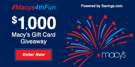 Enter to Win a $50 Macy's Gift Card!, deals, giveaway, frugal shopper, department store savigsm enter now, enter giveaway