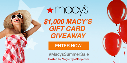 Win a $100 Macy's gift card!. Ends 6/25