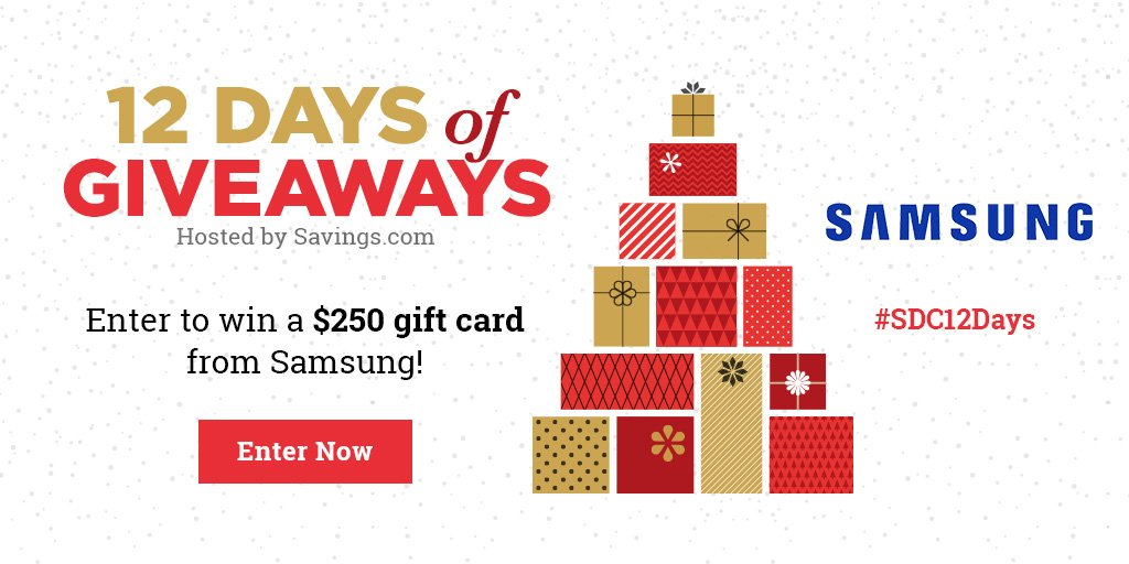 Win a $250 gift card from Samsung!