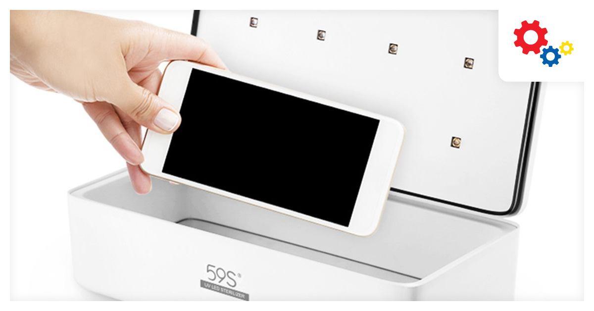 Boîte nettoyante antibactérienne pour smartphone Darty pendant les French Days