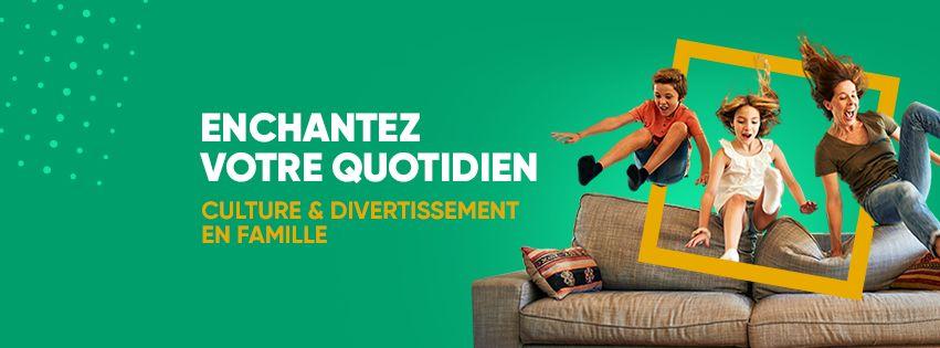 Image de couverture Facebook Fnac avec enfants qui sautent du canapé