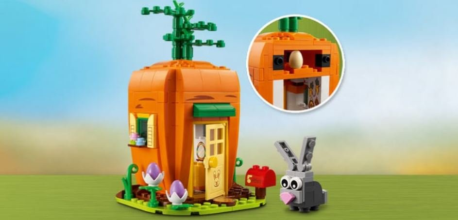 Gratis Lego-Karottenhaus zu deiner Bestellung zu Ostern
