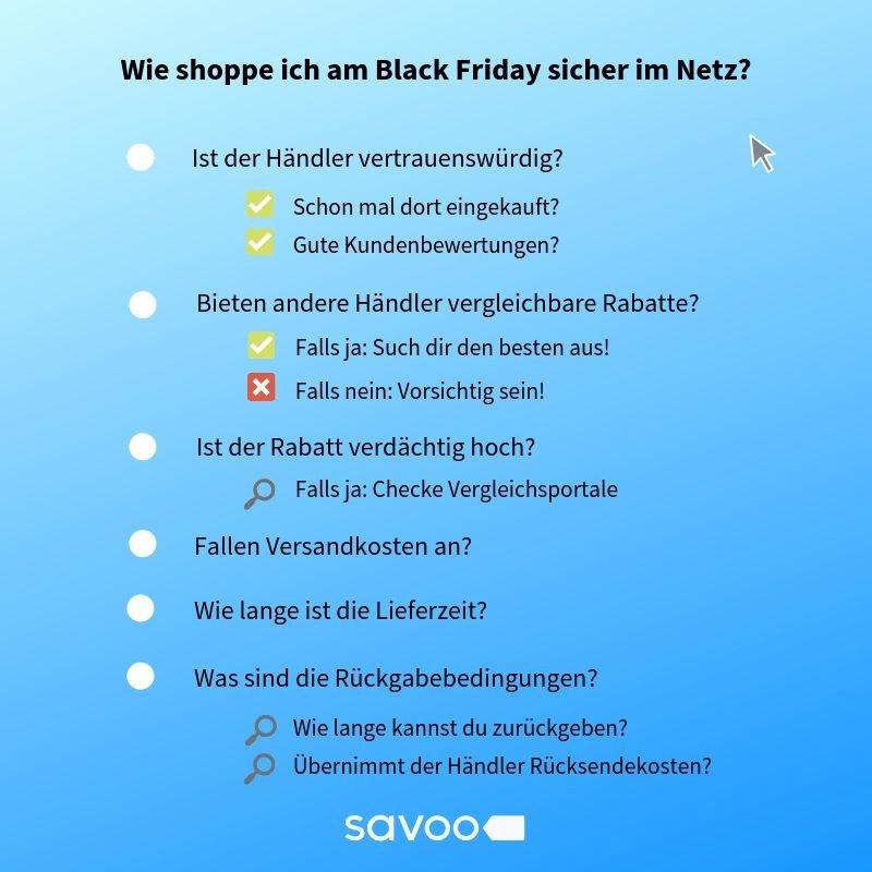 Checkliste zur Unterscheidung von guten Black Friday Angeboten von Fake Deals beim Online Shoppen
