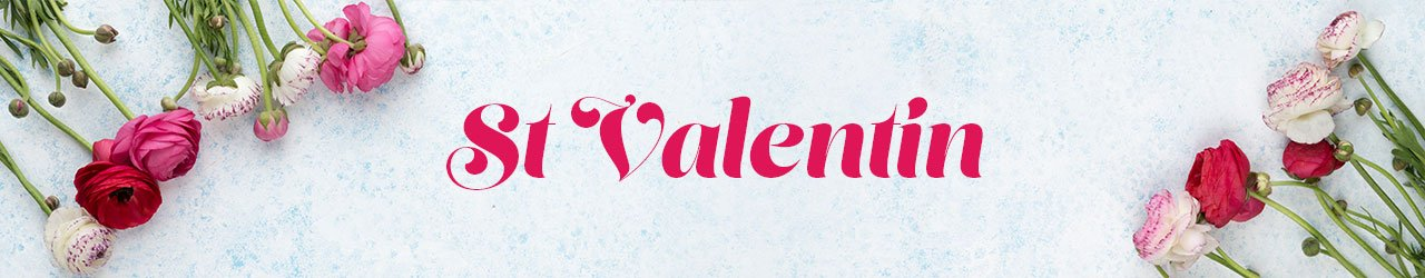 banniere saint valentin roses