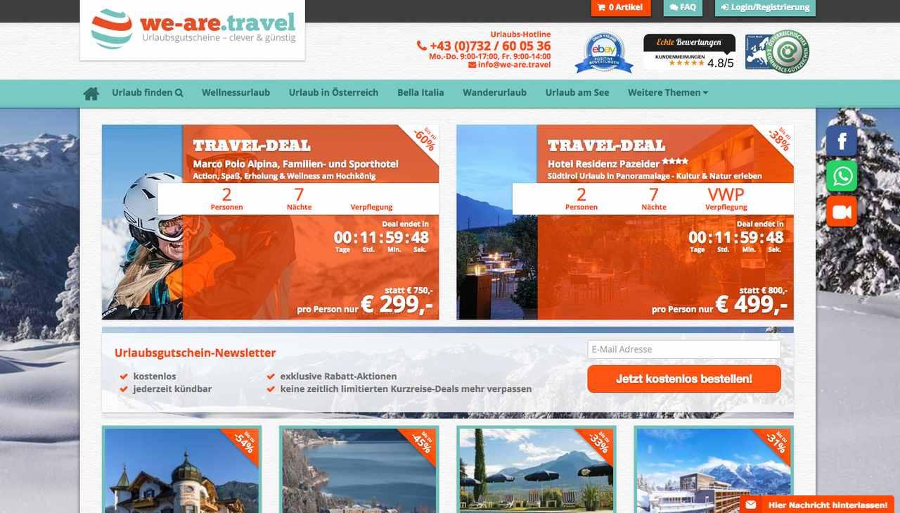 We Are Travel Gutschein