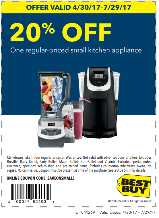 Printable: 20% off One Regular-Priced Small Kitchen Appliance