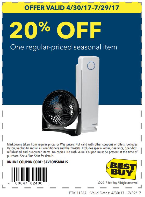 Printable: 20% off One Regular-Priced Seasonal Item