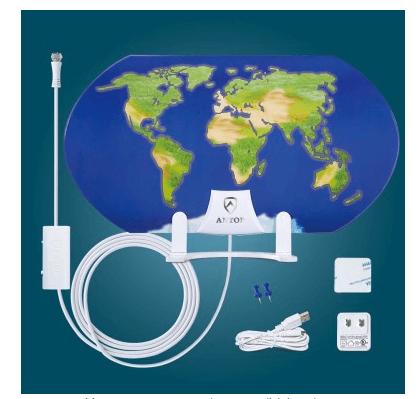 34% World Map Indoor HDTV Antenna Smartpass Amplified