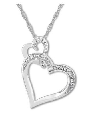 $49 off Diamond Heart Necklace plus Free Shipping