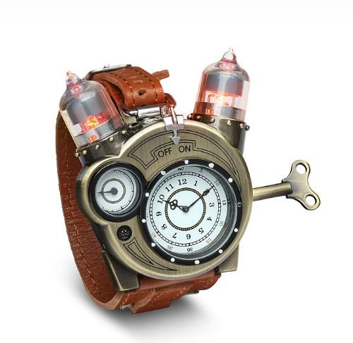 50% Off Steampunk-Styled Tesla Analog Watch