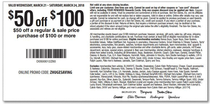 Printable: $50 Off Orders Over $100