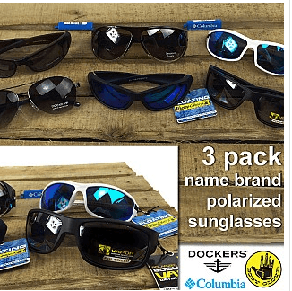 83% Off 3 Pack of Men's or Women's Name Brand Polarized Sunglasses Plus Free Shipping