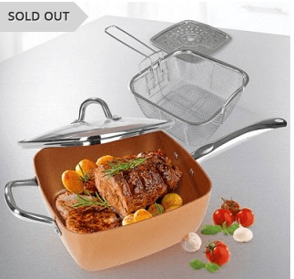 69% Off 4 Piece Square Cook Set with Glass Lid Plus Free Shipping