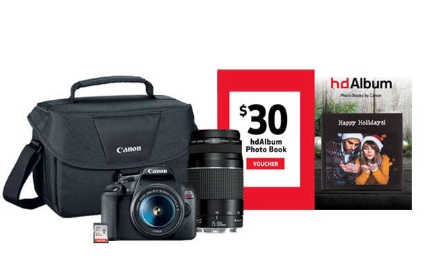 Get EOS Rebel T7 Double Zoom Lens Kit Plus Freebies for $499.99