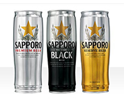 Sapporo Beer Cans